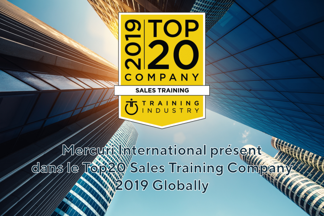 Mercuri International présent dans le Top20 Sales Training